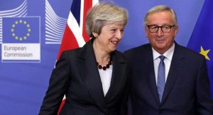 May Heads to Brussels, Without Her Brexit Secretary